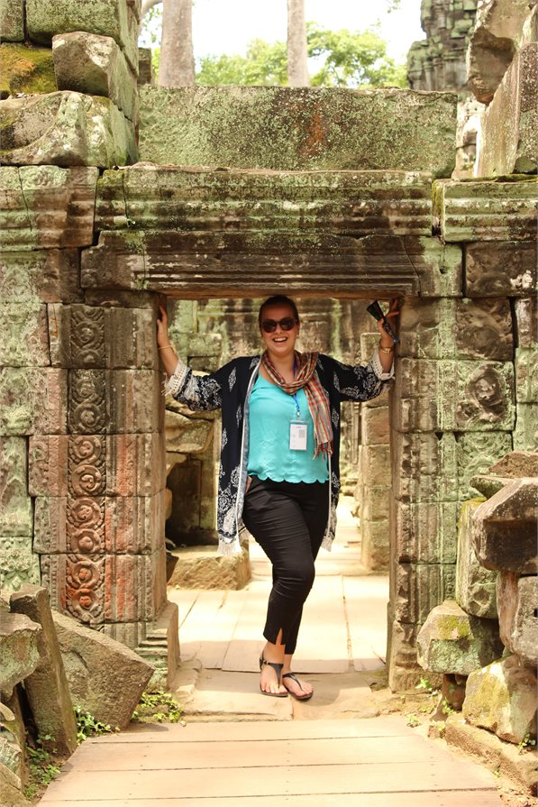 Exploring the temple of Angkor Wat in Cambodia