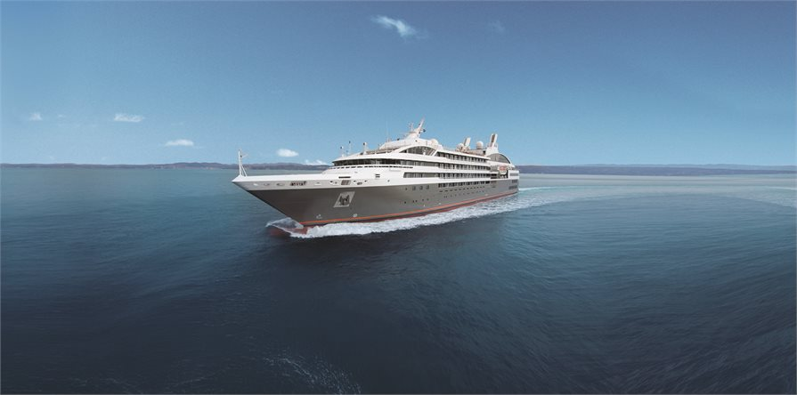 Ponant Cruises L' Austral at sea