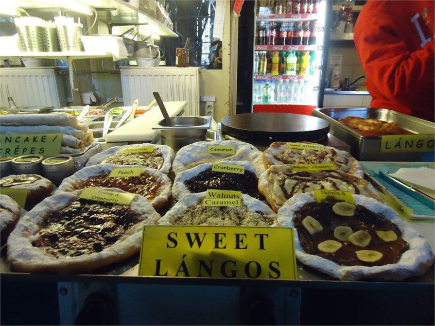 Sweet langos at the Central Market Hall