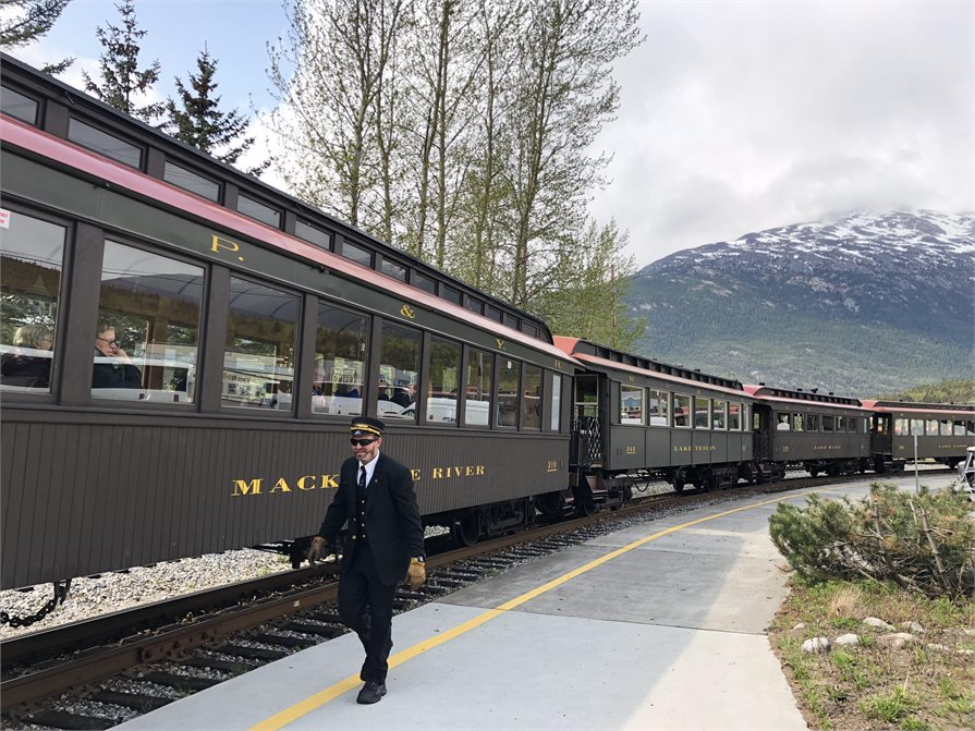 The McKinley Explorer train journey Skagway Alaska