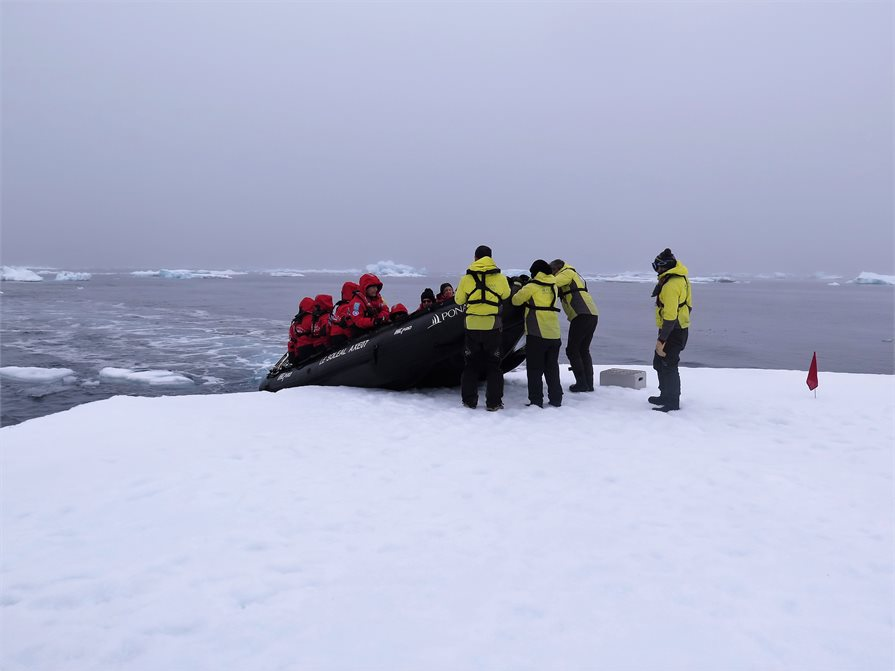 arriving on the sea ice