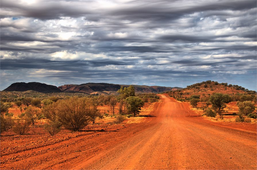 Outback road in Western Australia