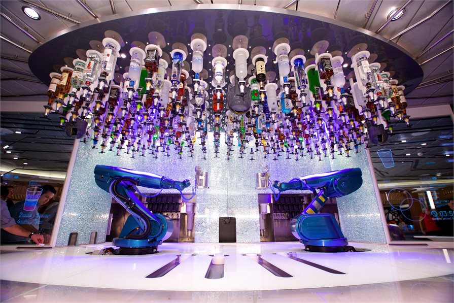 The Bionic Bar which is on several of Royal Caribbean's ships