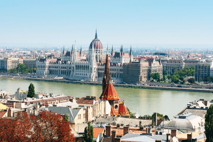 View Of Danube River Budapest Hungary