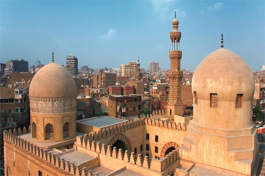 View of rooftops in Cairo Egypt