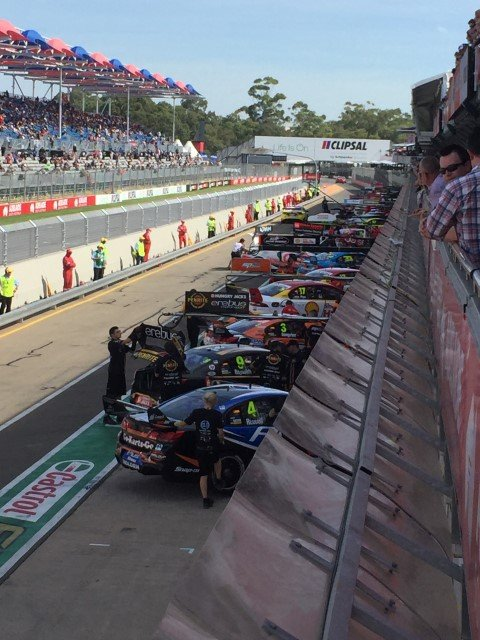 pit lane at the Clipsal 500 Adelaide