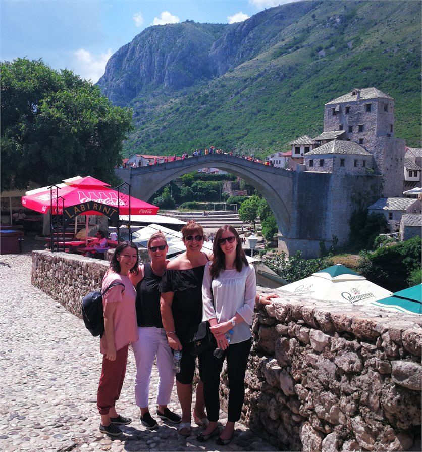The famous Mostar Bridge in Bosnia, Herzegovina