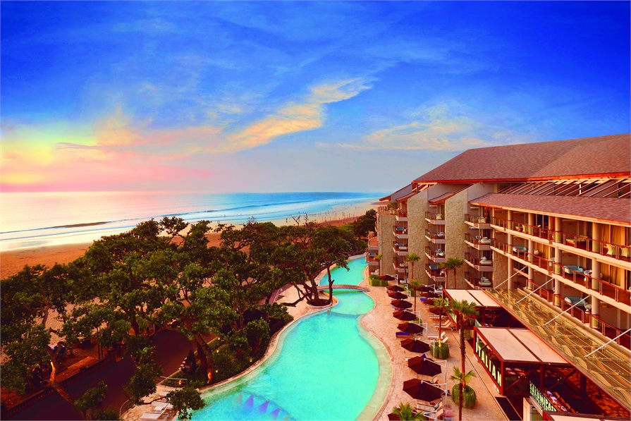 Double Six Luxury Hotel Seminyak Bali Pool view