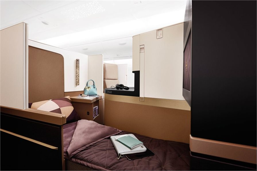 Inside the new Etihad Business Class cabin