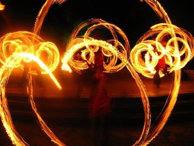 Fire dancing cultural performances