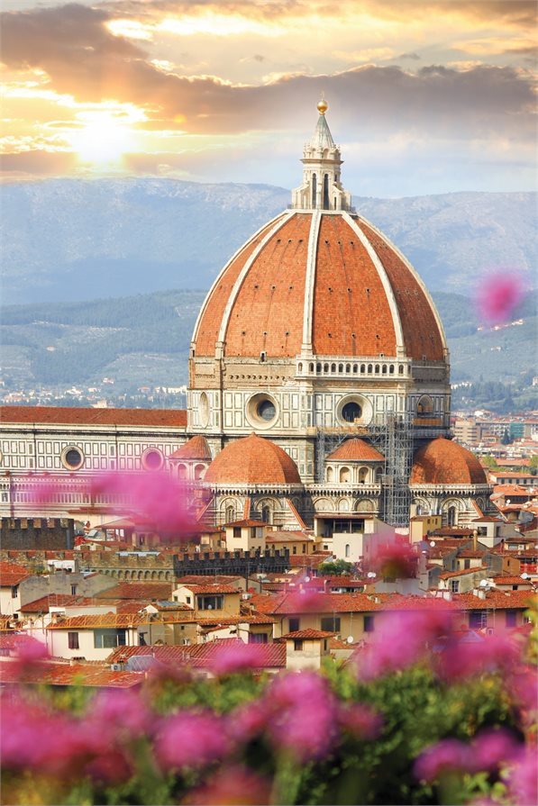 View of the Duomo in Florence Italy