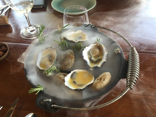 Oysters at the Hentley Farm Restaurant