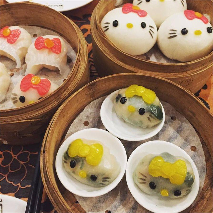 Hello Kitty dumplings