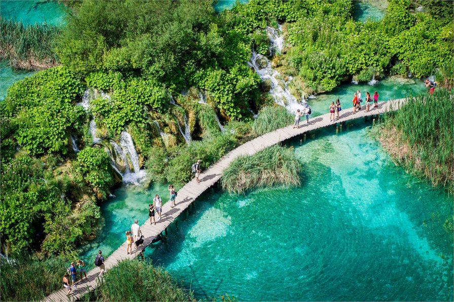 Board walk in Plitvice Lakes National Park, Croatia