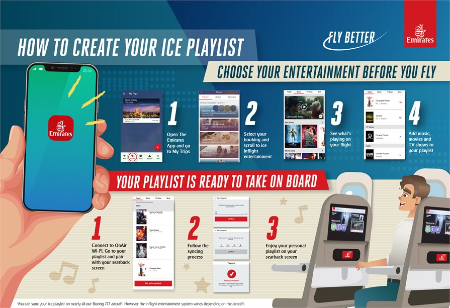 Emirates ice information and instructions