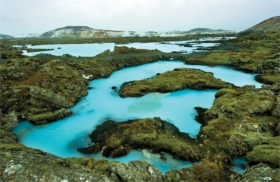 baby blue thermal pools in Iceland