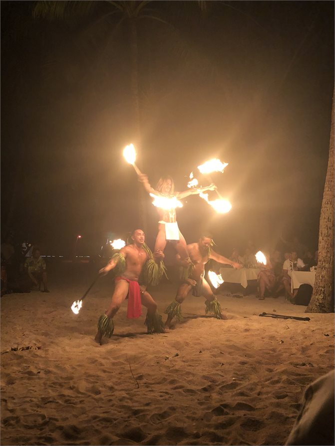 Cultural fire performance in Tahiti
