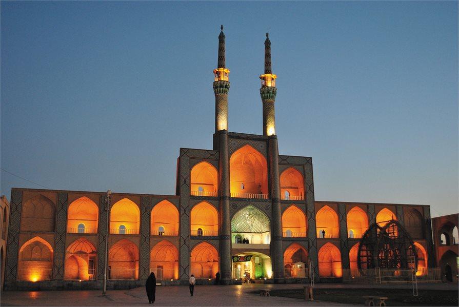 Iranian temple at dusk
