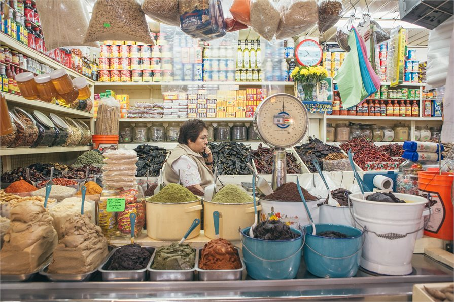 Mexican spices and street food store