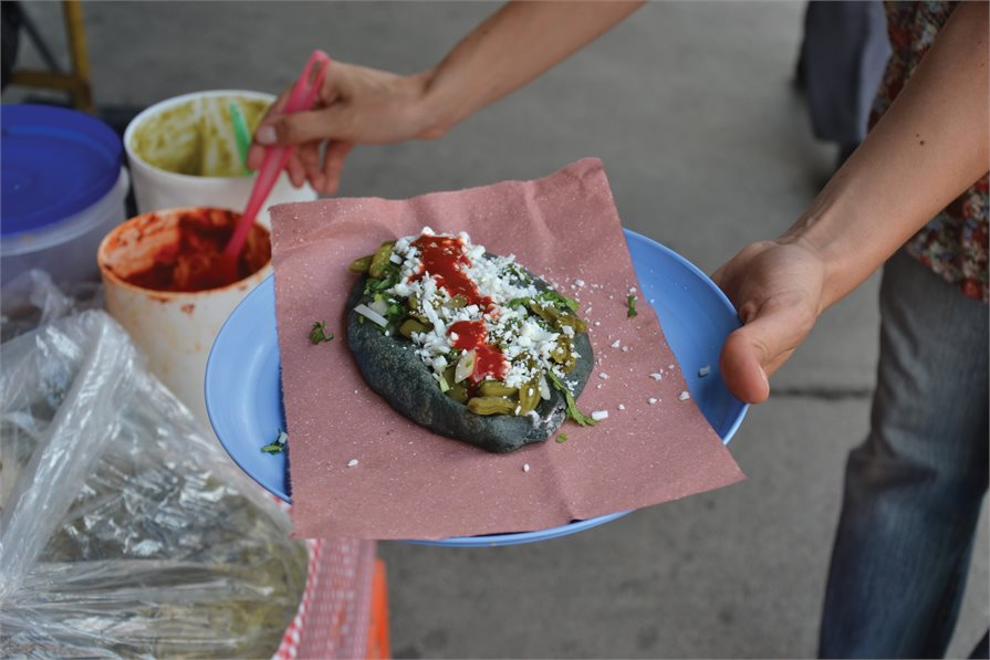Traditional street food in Mexico
