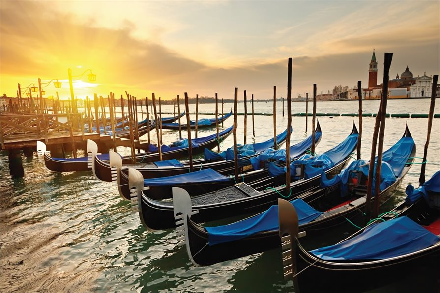 Gondolas in Venice Italy