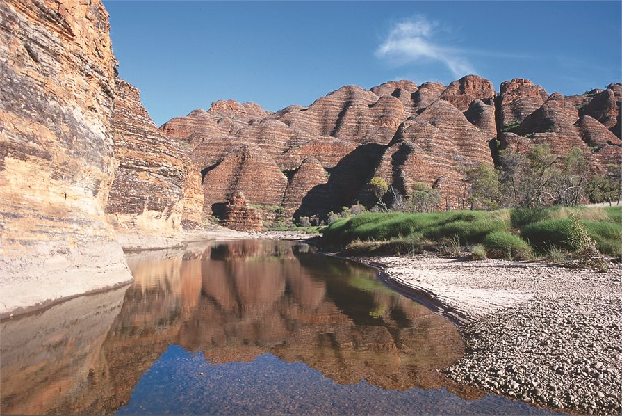 Kimberley stream along a cliff