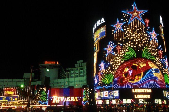 Las Vegas lights at night