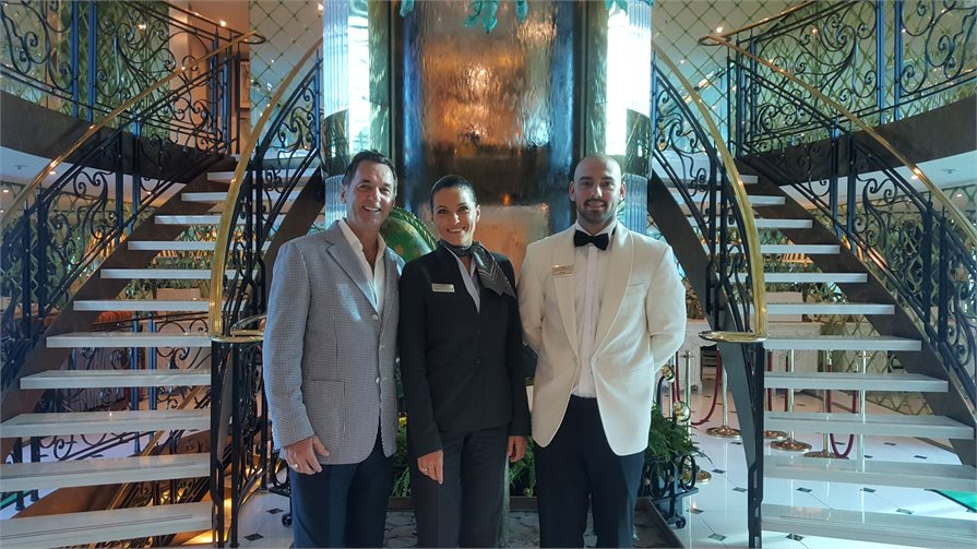 Uniworld Hotel Manager Ivana and Restaurant Manager Ivan
