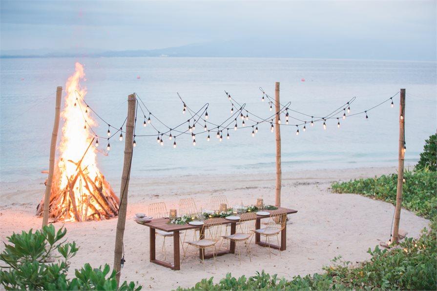 Wedding venue dining Malamala Beach Club Fiji
