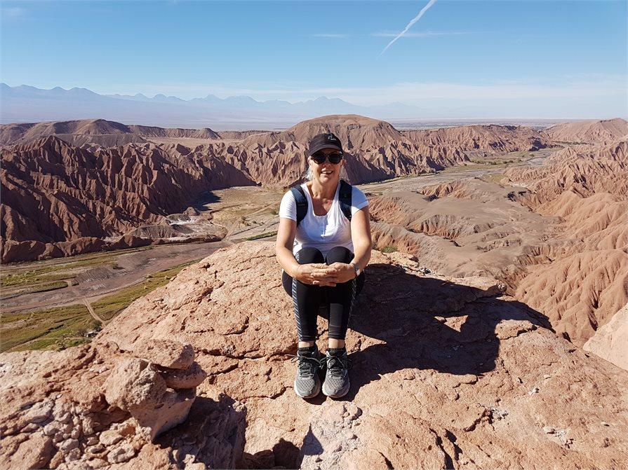 Marie Coles in the Atacama desert in Chile