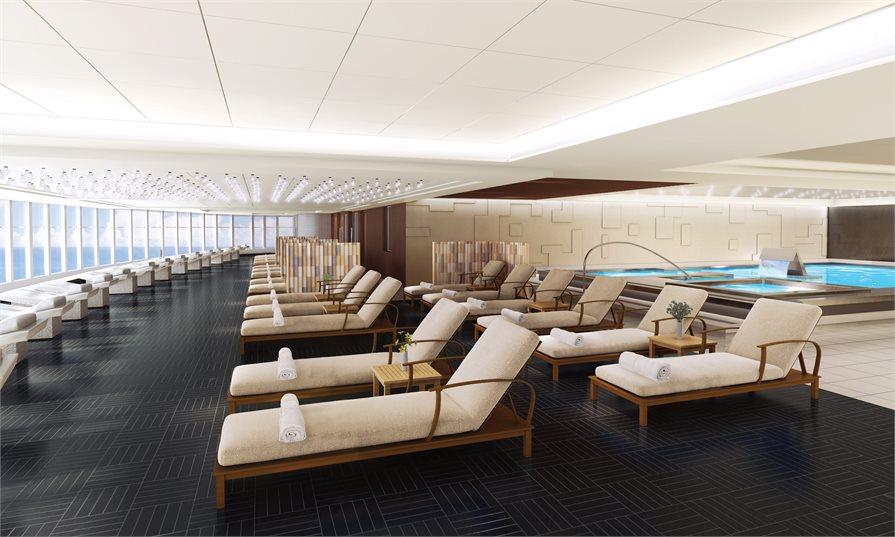 spa loungers on board Norwegian Bliss