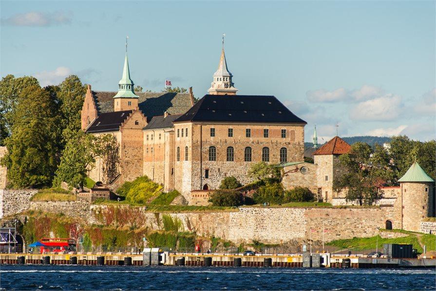 Castles along European river banks