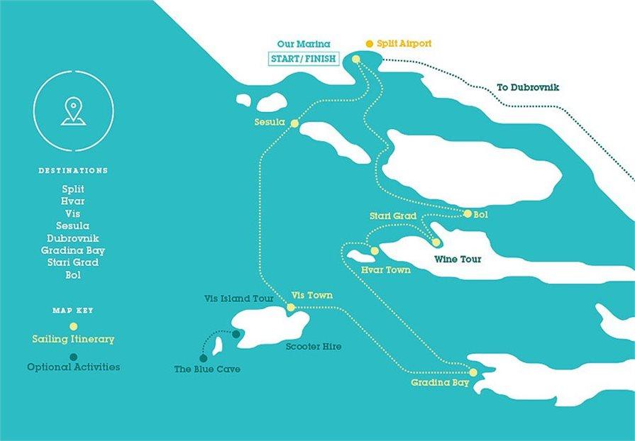 CTT MedSailors Croatia Discovery Map