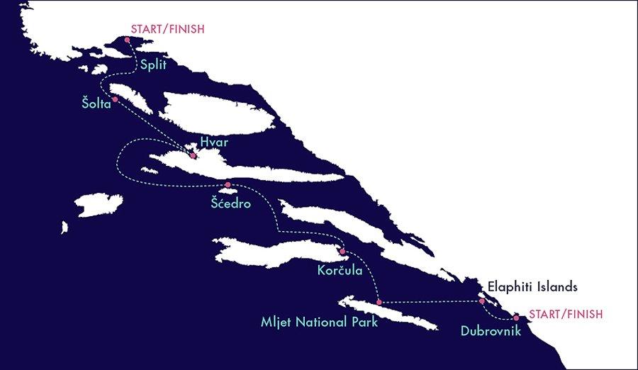 Yacht Getaways Croatia Explorer Map