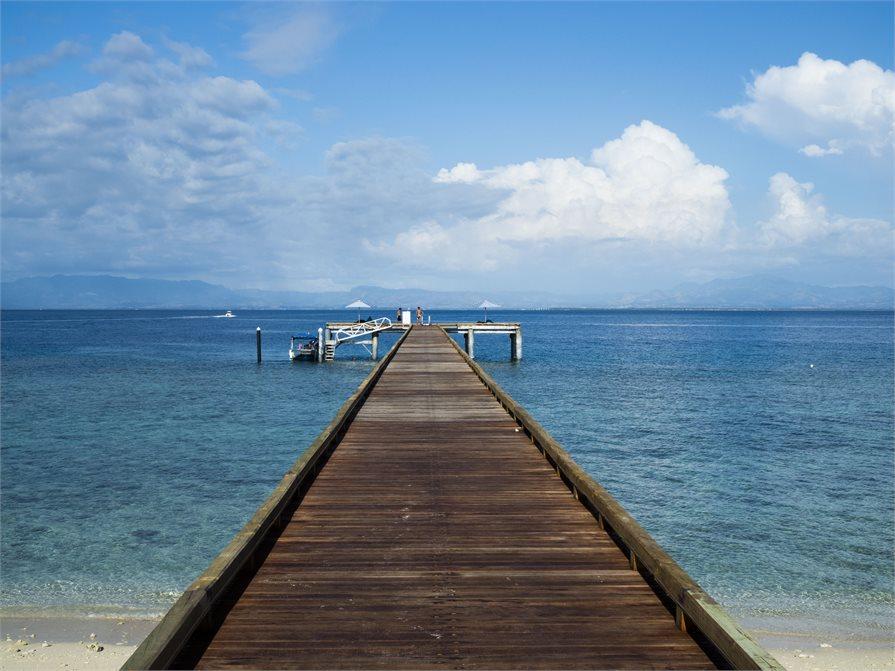 Boardwalk at Malamala Beach Club Fiji