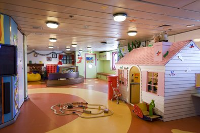Childrens area on board the Pacific Pearl