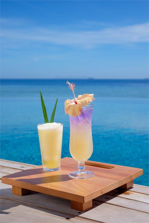 Cocktails by the beach Malamala Beach Club
