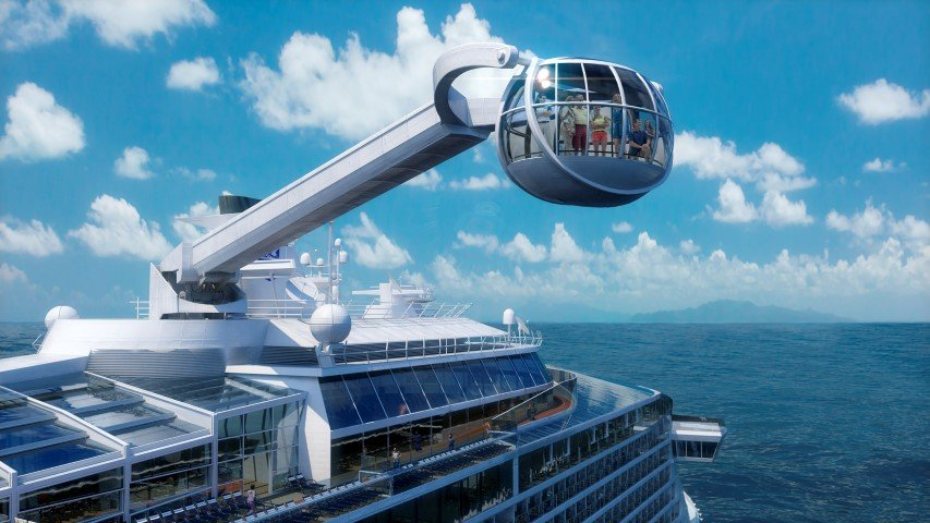Ovation of the Seas viewing arm