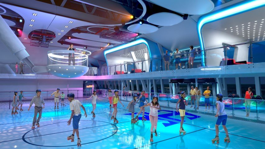 Roller skating rink on board Ovation of the Seas