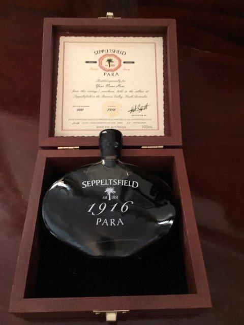 the Seppeltsfield wine 1912