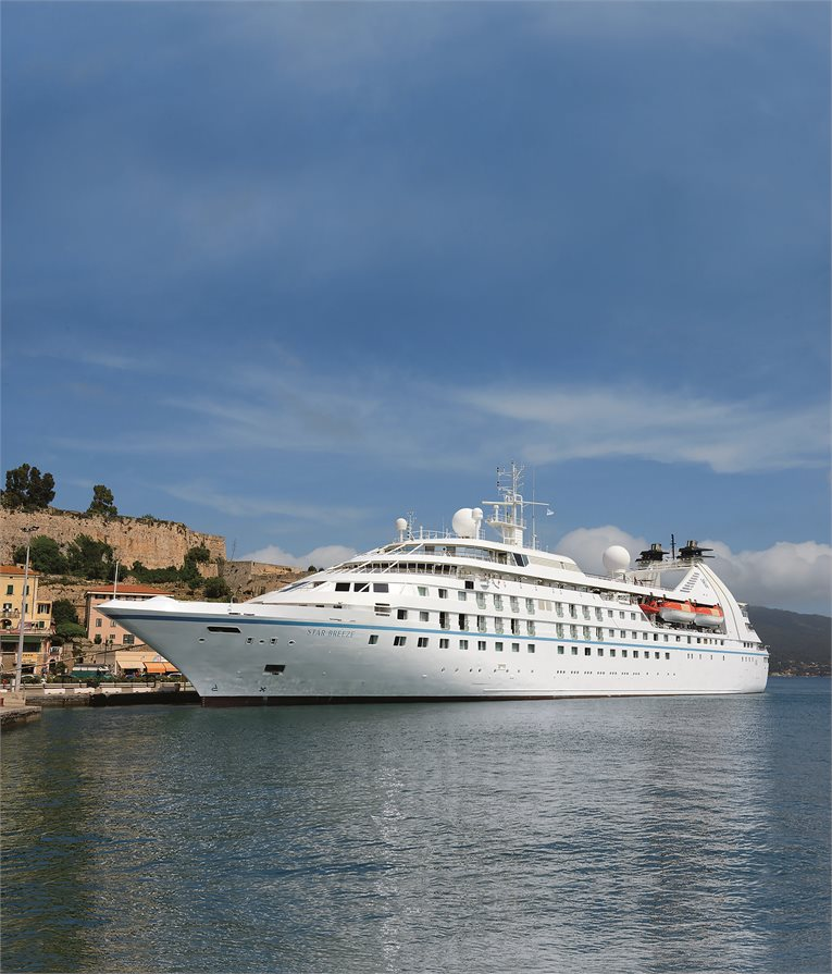 Windstar cruise ship at the docks
