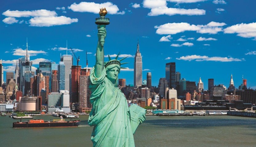 Statue of Liberty with New York City