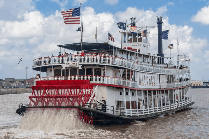 paddle steamers sailing along the Mississippi