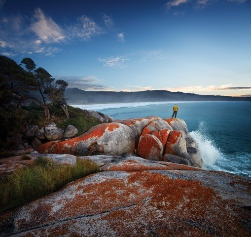 red boulders at the Bay of Fires Tasmania