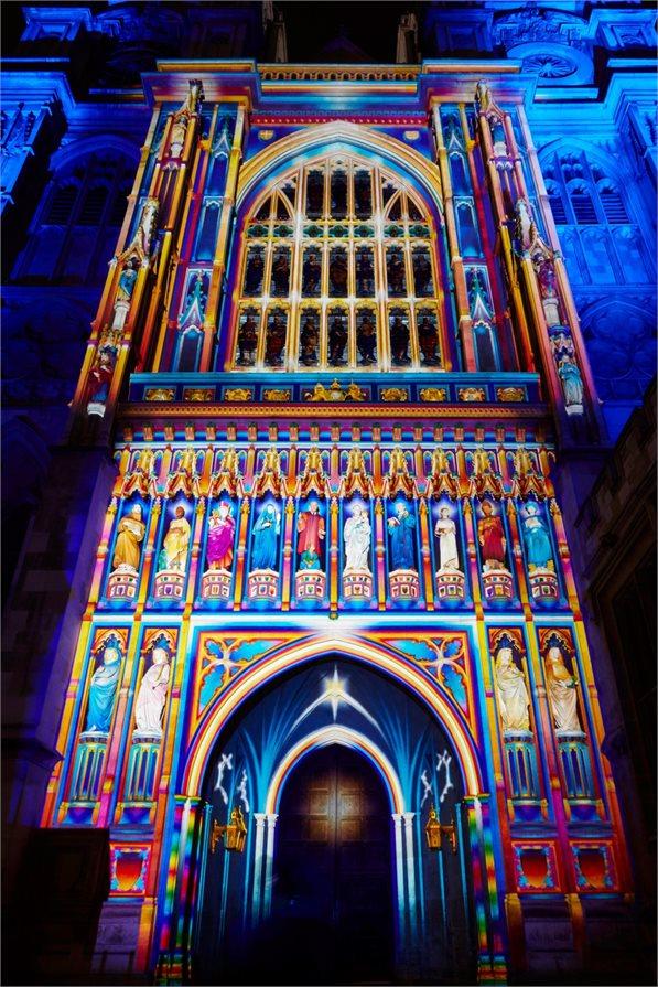 Lumiere London festival light show