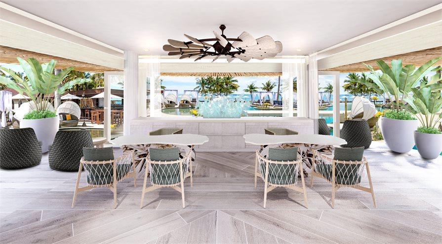 Beach fronrestaurant Sofitel Fiji Resort and Spa