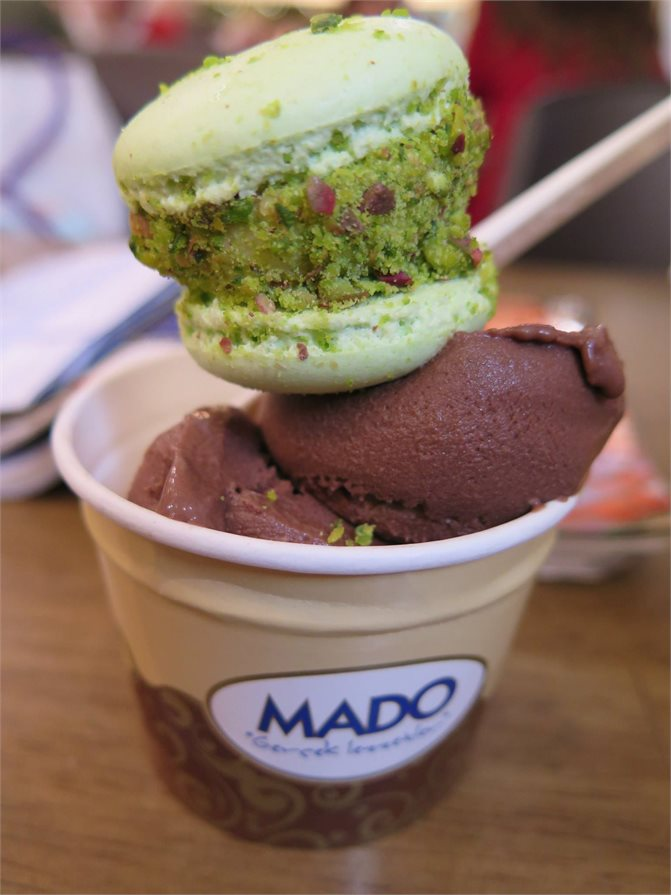 Turkish ice cream from Mado