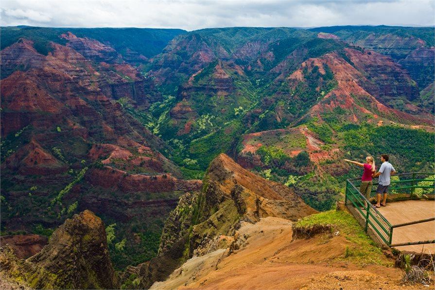 view of the Waimea Canyon