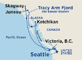 Star, Inside Passage with Tracy Arm ex Seattle Return