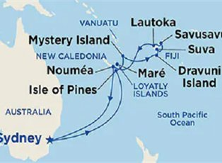 Sea, Fiji ex Sydney Return